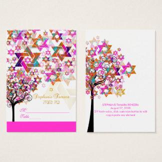PixDezines Baum von Leben Mitzvah Platzkarten Visitenkarte