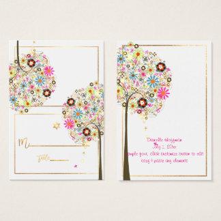 ✡ PixDezines Blumen-Baum der Leben-Platzkarten Visitenkarte