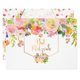 PixDezines BlumenAquarell/Pfingstrosen/Schläger 12,7 X 17,8 Cm Einladungskarte
