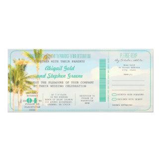 PixDezines Boarding-Durchlauf+Vintage 10,2 X 23,5 Cm Einladungskarte