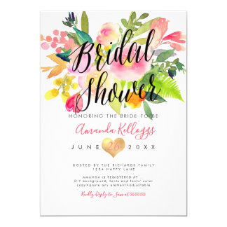 PixDezines Brautparty-Frühling mit Blumen Karte