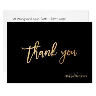PixDezines DIY Farbe/Monogramm danken Ihnen/Ebene 8,9 X 12,7 Cm Einladungskarte