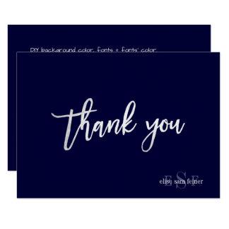 PixDezines DIY Farbe/Monogramm danken Ihnen/Ebene Karte