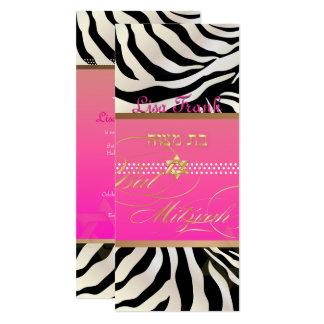 PixDezines DIY Farbe/natürlicher Zebra, Schläger 10,2 X 23,5 Cm Einladungskarte