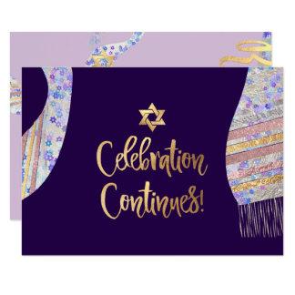 PixDezines Empfang Mitzvah/lila Watercolor Karte