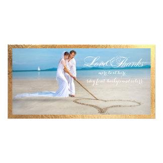 PixDezines Goldrahmen/danken Ihnen Hochzeits-Foto Bilderkarten