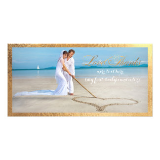 PixDezines Goldrahmen/danken Ihnen Hochzeits-Foto Photo Karte