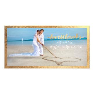 PixDezines Goldrahmen/danken Ihnen Hochzeits-Foto Photokartenvorlagen