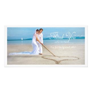 PixDezines Hochzeits-Foto danken Ihnen Fotokartenvorlage