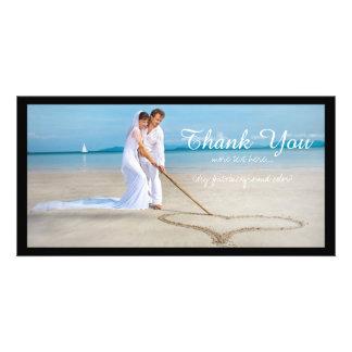 PixDezines Hochzeits-Foto danken Ihnen Individuelle Photo Karte