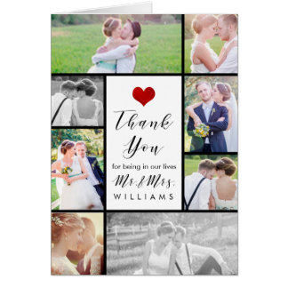 PixDezines Hochzeits-Fotos danken Ihnen Grußkarte