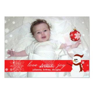 PixDezines l'a laissé neiger, les vacances Carton D'invitation 11,43 Cm X 15,87 Cm