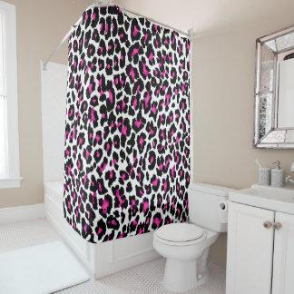 PixDezines Leopard-/Rosa/Black/DIY Hintergrund Duschvorhang