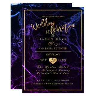 PixDezines Marmor/Imitat-Gold/Hochzeits-Feier Karte