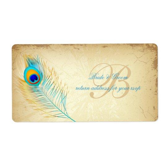 PixDezines peacock/DIY Hintergrundfarbe Großer Adressaufkleber