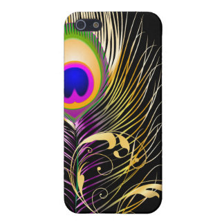PixDezines Pfaufeder+filigree/DIY Hintergrund iPhone 5 Case