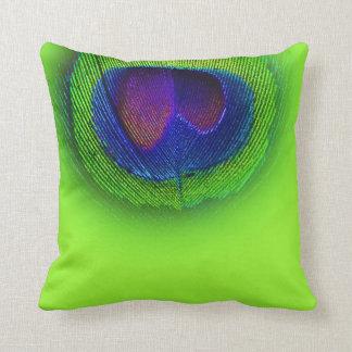 PixDezines psychedelisches Pfauauge/-kobalt+Grün Kissen