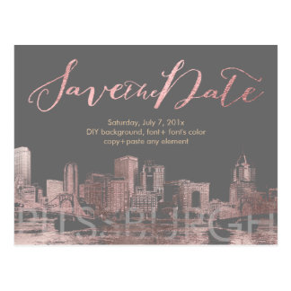 PixDezines/retten Datum/rosa Postkarte