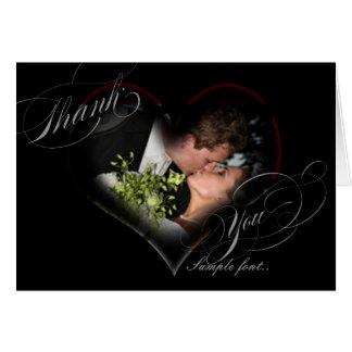 PixDezines romantisches Herz/Hochzeit danken Ihnen Karte