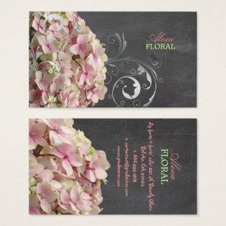 PixDezines rosa Hydrangeas, Floristen/Tafel Visitenkarten