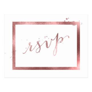 PixDezines RSVP/FAUX Hintergrund ROSE GOLD/DIY Postkarte