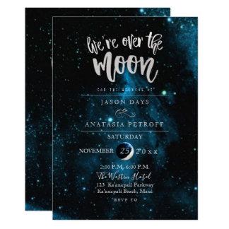 PixDezines sind wir über der Mond-Hochzeit Karte
