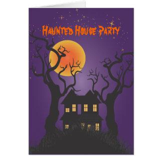 PixDezines Spuk Manson/lila, Halloween Karte