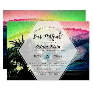 PixDezines surft herauf Strand-Bar Mitzvah 12,7 X 17,8 Cm Einladungskarte