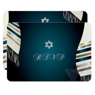 PixDezines UAWG Mitzvah/aquamariner tallit/diy 8,9 X 12,7 Cm Einladungskarte
