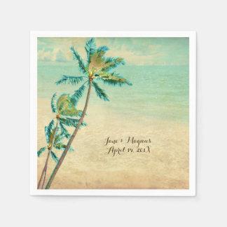 PixDezines Vintager tropischer Strand Serviette