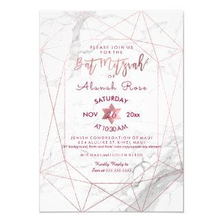 PixDezines weißer Marmorschläger 12,7 X 17,8 Cm Einladungskarte