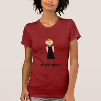 Pixel-Brautjungfer - Schwarzes T-Shirt
