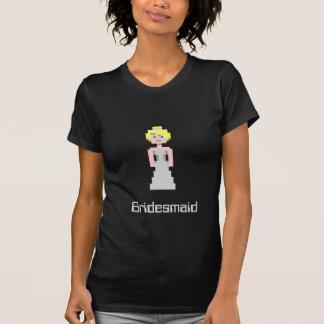 Pixel-Brautjungfer - Silber T-Shirt