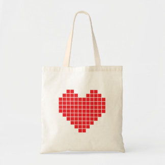 Pixel-Herz-Taschen-Tasche Tragetasche