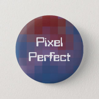 Pixel perfektes Pixelated Runder Button 5,1 Cm