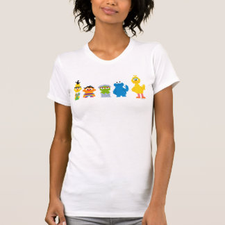 Pixel-Sesame Street-Charaktere T-Shirt