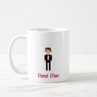 Pixel-Trauzeuge - Kastanienbraun Kaffeetasse