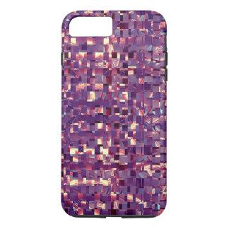 Pixelated lila Zellen-Telefon-Kasten iPhone 8 Plus/7 Plus Hülle