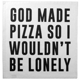 Pizza einsam stoffserviette