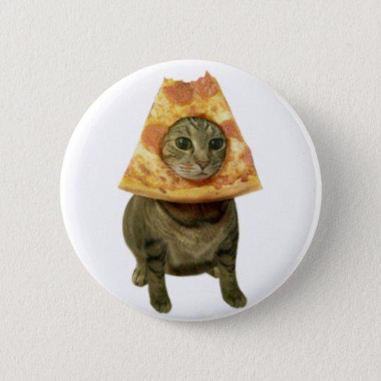 Pizza-Katzen-Entwurf Runder Button 5,7 Cm