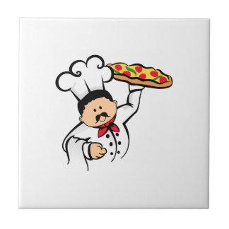 PIZZA-KOCH KLEINE QUADRATISCHE FLIESE