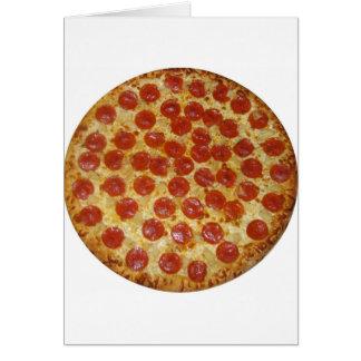 Pizza-… köstliche Pepperoni-Pizza Karte
