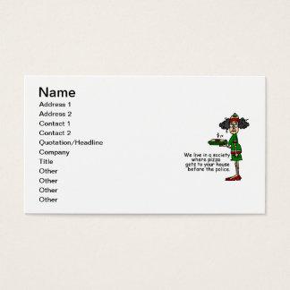 Pizza-Lieferungs-Spaß Visitenkarte