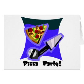 Pizza-Party 4 Karte
