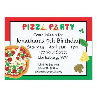 Pizza-Party-Geburtstag 12,7 X 17,8 Cm Einladungskarte