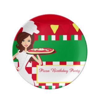 Pizza-Party-Porzellan-Platte Teller Aus Porzellan