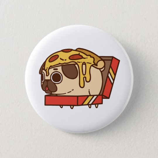 Pizza Pug-01 Runder Button 5,7 Cm