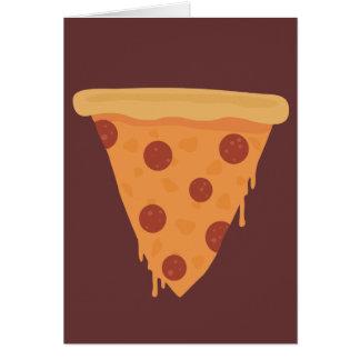 Pizza-Scheibe Karte