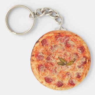 Pizza Standard Runder Schlüsselanhänger