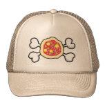 Pizza Totenkopf mit gekreuzter Knochen Baseball Kappe